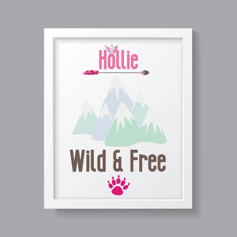 Tribal Girl - Personalised Wild & Free Print