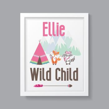 Tribal Girl - Personalised Wild Child Print