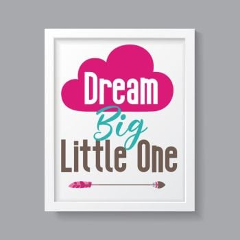 Tribal Girl - Dream Big Little One Print