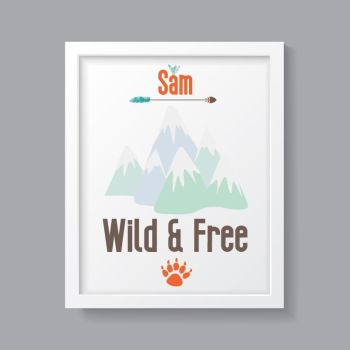 Tribal Boy- Personalised Wild & Free Print