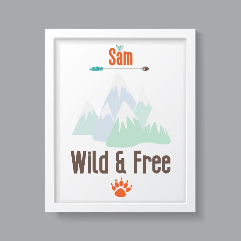 Tribal Boy- Personalised Wild & Free Print