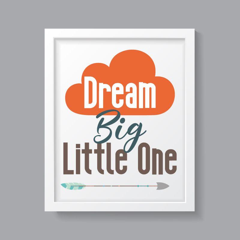 Tribal Boy - Dream Big Little One Print