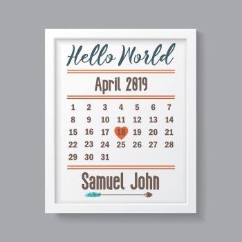 Tribal Boy - Personalised Hello World Print