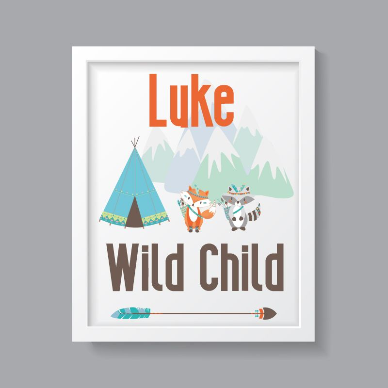 Tribal Boy - Personalised Wild Child Print
