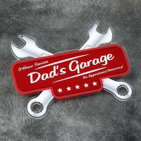 Printed Acrylic Dad's Garage Spanner Plaque