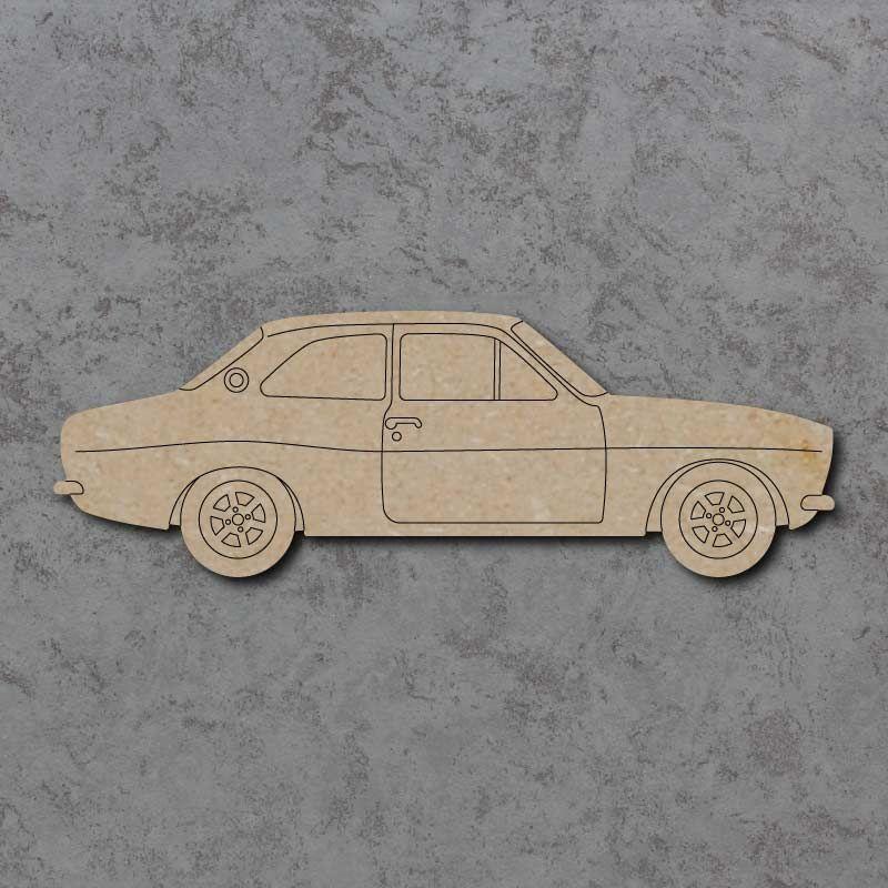 Ford Escort MK1 Car Detailed Craft Shapes