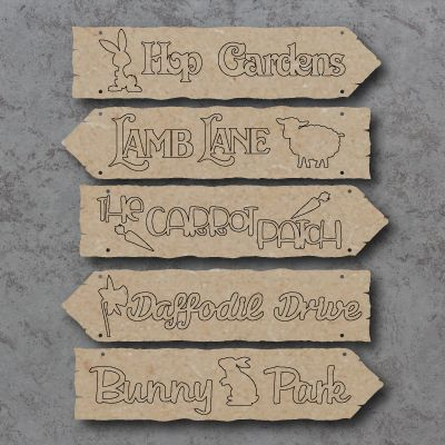 Easter Directions Hanging Sign