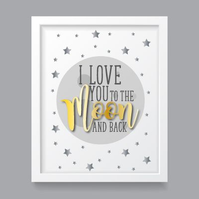 I Love you to the moon and back - A4 art print