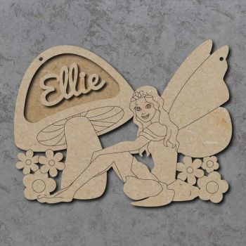Fairy & Toadstool Name Plaque