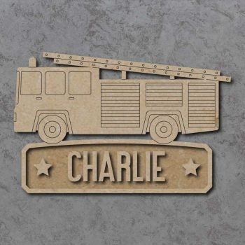 Fire Engine Name Plaque