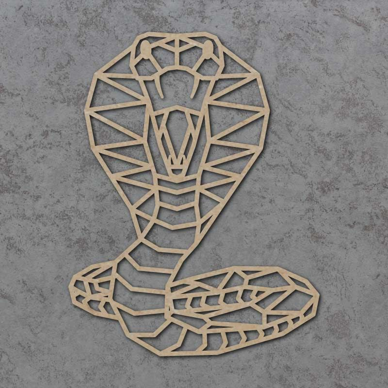 Geometric Cobra Snake Detailed Craft Shapes