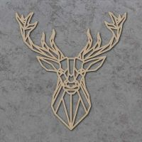 Geometric Stag Head Detailed Craft Shapes