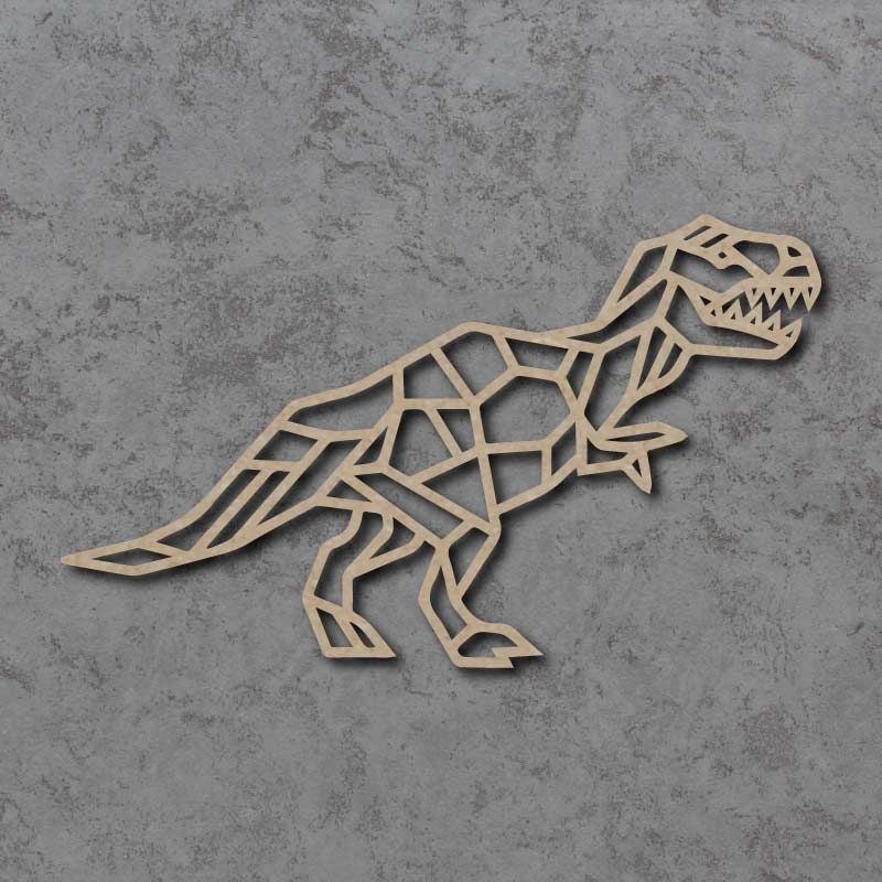 Geometric T-Rex Dinosaur Detailed Craft Shapes