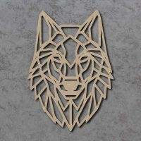 Geometric Wolf Head Detailed Craft Shapes
