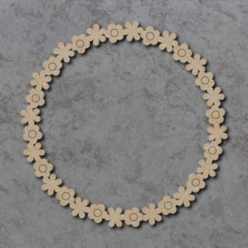 Hollow Flower Circle Detailed Craft Shape