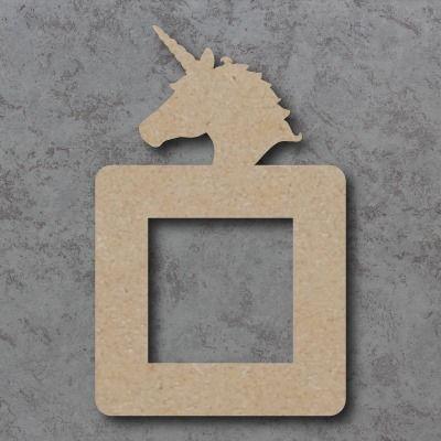 Unicorn Head Lightswitch Surround
