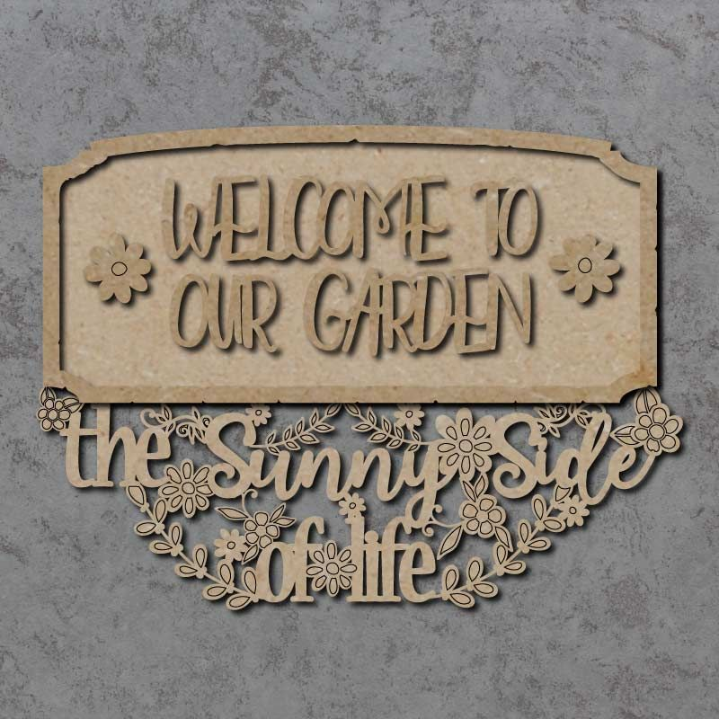 Welcome To Our Garden Plaque