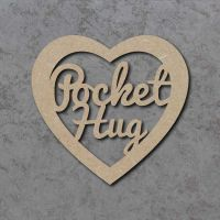 Pocket Hug Heart Detailed Craft Shapes