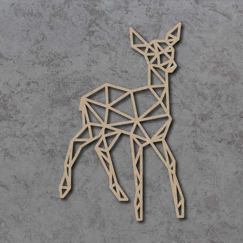 Geometric Deer Detailed Craft Shapes