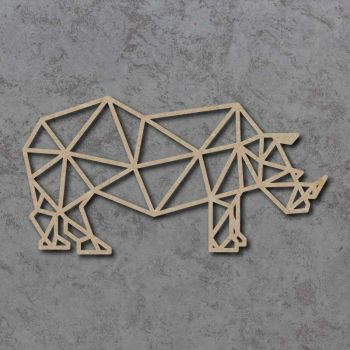 Geometric Rhino Detailed Craft Shapes