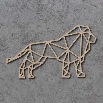Geometric Lion FULL BODY Detailed Craft Shapes
