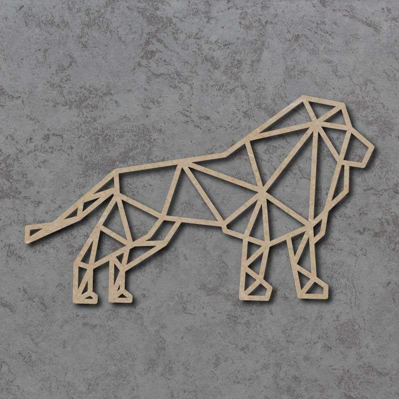 Geometric Lion Detailed Craft Shapes