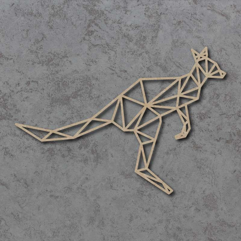 Geometric Kangaroo Detailed Craft Shapes