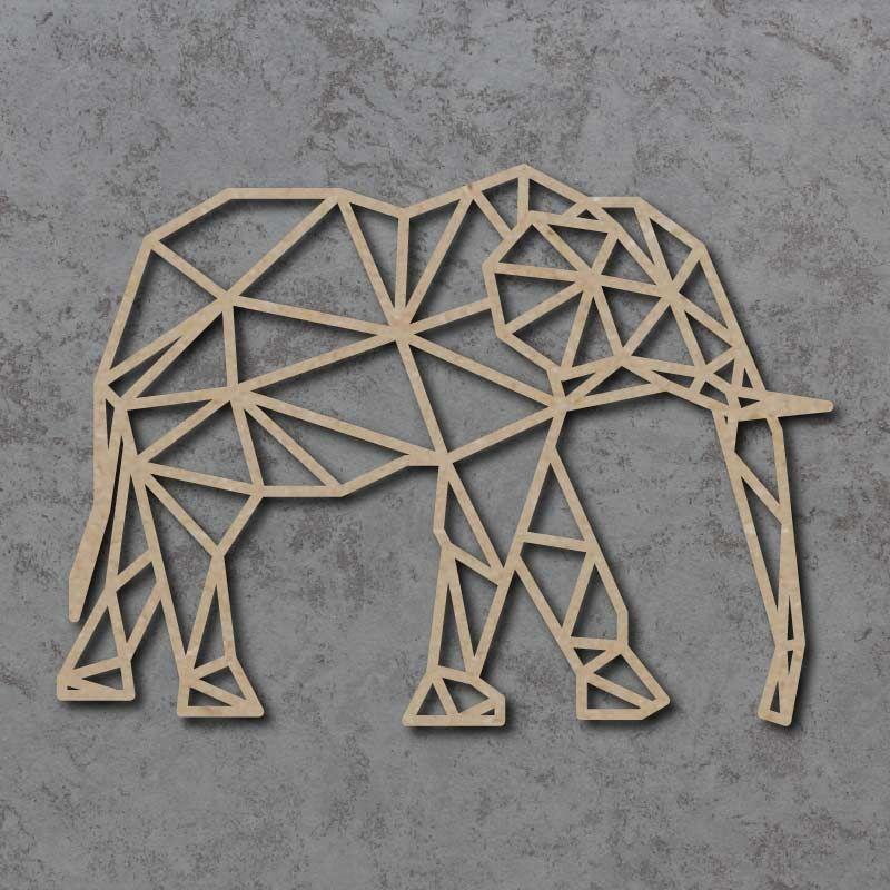 Geometric Elephant Detailed Craft Shapes