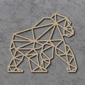 Geometric Gorilla FULL BODY Detailed Craft Shapes