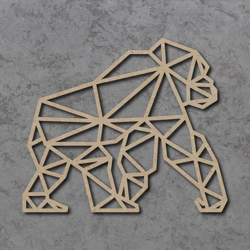 Geometric Gorilla Detailed Craft Shapes