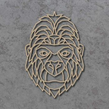 Geometric Gorilla Head Detailed Craft Shapes