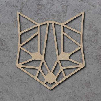 Geometric Fox Head Detailed Craft Shapes