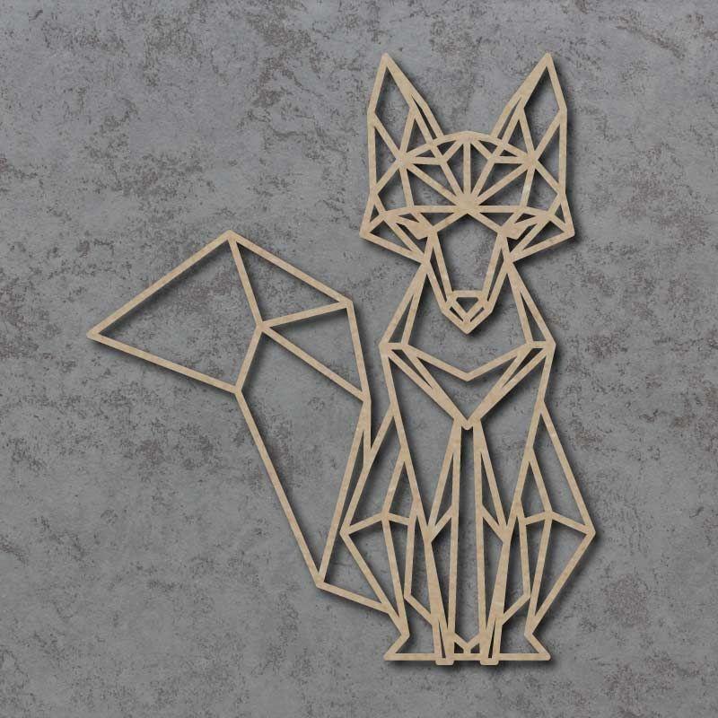 Geometric Fox Detailed Craft Shapes