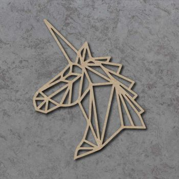 Geometric Unicorn Head Detailed Craft Shapes