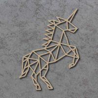Geometric Unicorn FULL BODY Detailed Craft Shapes