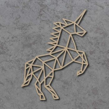 Geometric Unicorn FULL BODY Detailed Craft Shapes