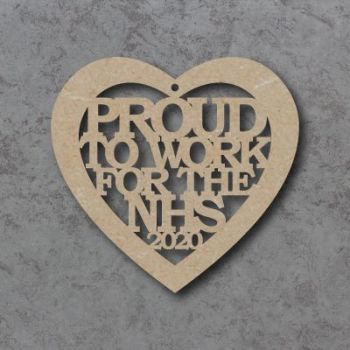 Proud to work for the NHS heart