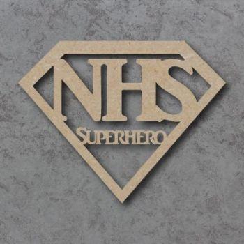 NHS Superhero craft shape