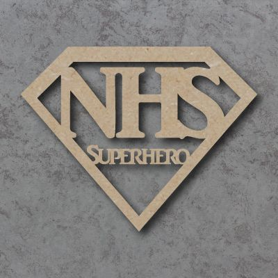 NHS Superhero craft shape