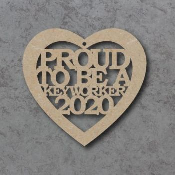 Proud to be a keyworker 2020 heart