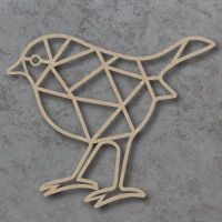 Geometric Robin Detailed Craft Shapes
