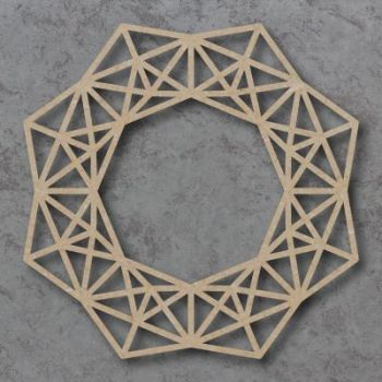 Geometric Christmas Wreath Detailed Craft Shapes