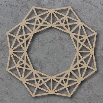 Geometric Christmas Wreath Detailed Craft Shapes