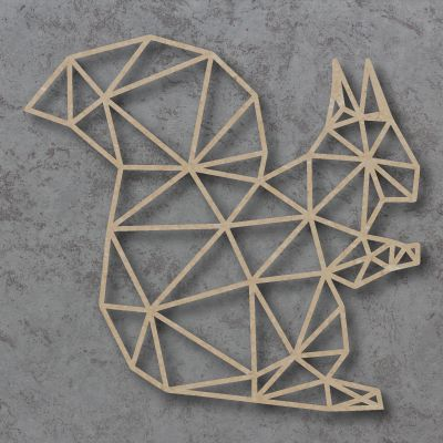 Geometric Squirrel Detailed Craft Shapes