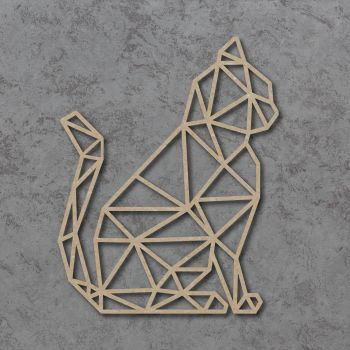 Geometric Cat Detailed Craft Shapes