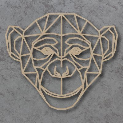 Geometric Monkey Detailed Craft Shapes