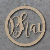 Personalised circle signs with loop