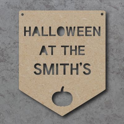 Halloween at the 'Your Name' Flag craft sign