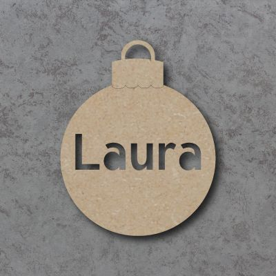 Personalised Cutout word Bauble