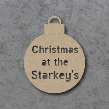 Christmas at the Surname Cutout Bauble
